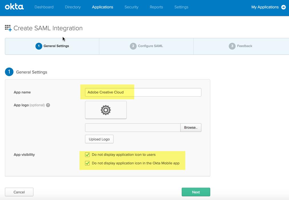 Create SAML integration