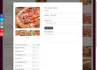 Sub-menu integration