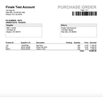 Finale Inventory - Purchase order invoice