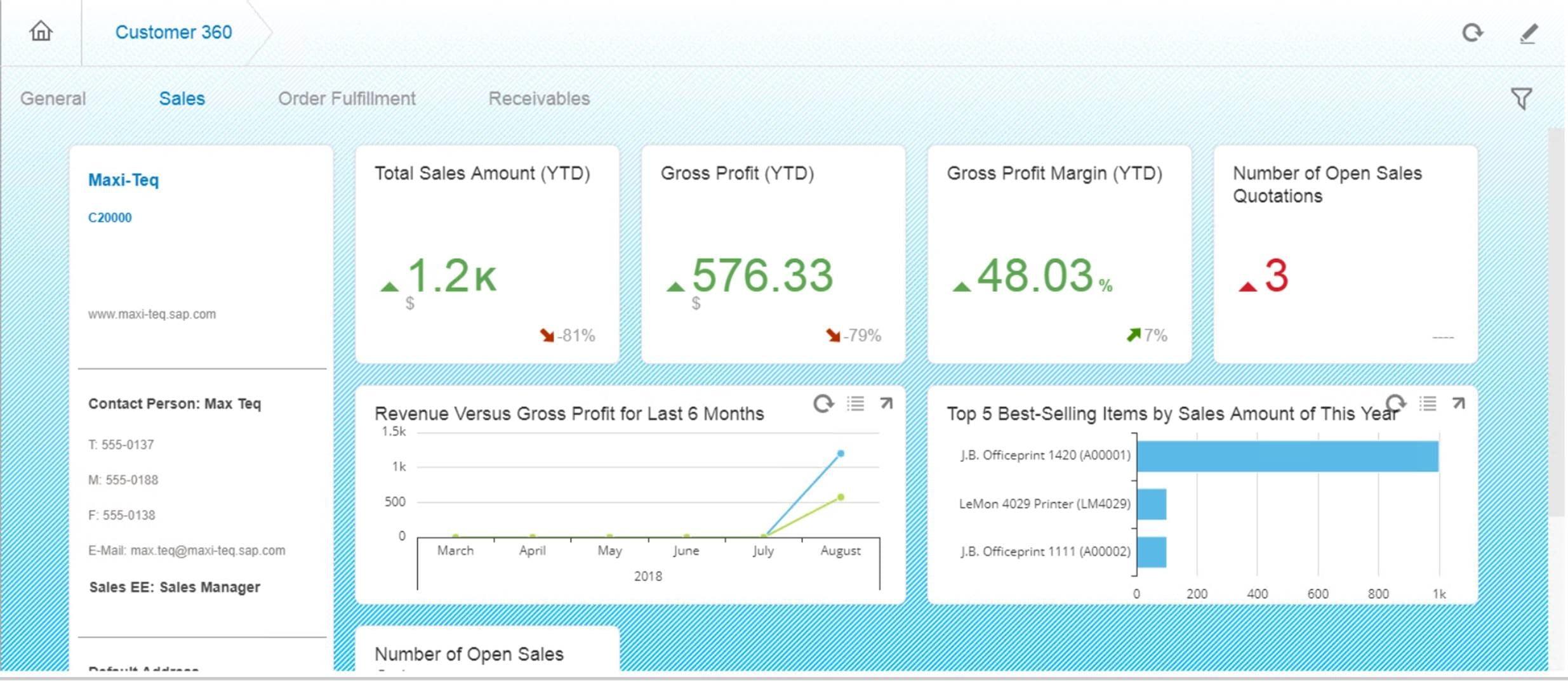 OptiProERP - 360 Customer View