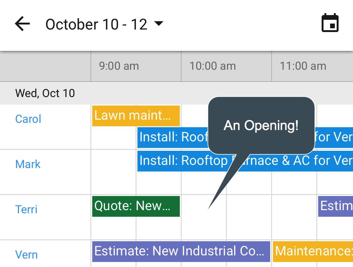 Solve CRM - Calendar
