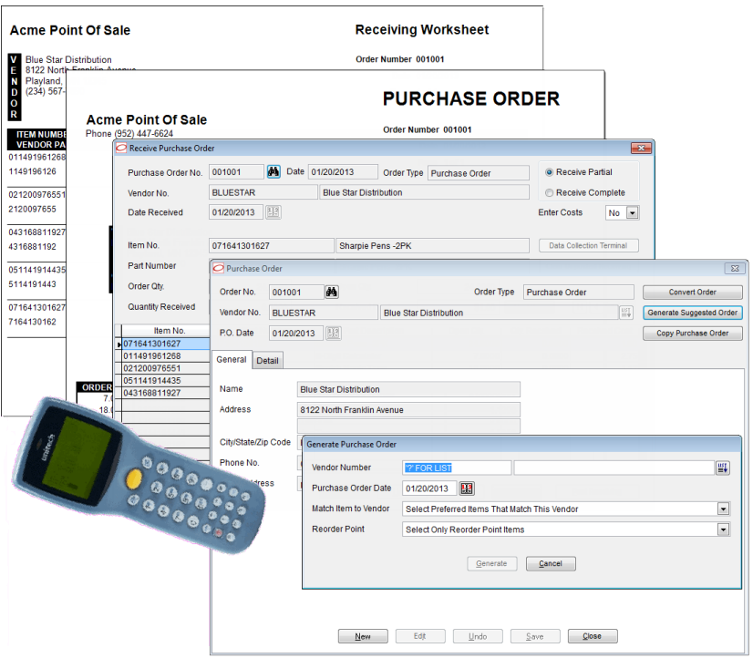 Purchase orders & receiving