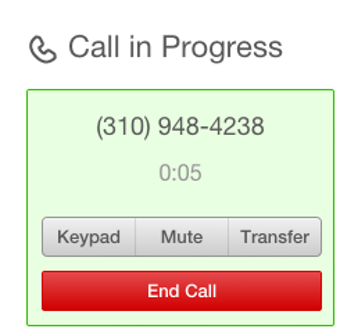Call in progress