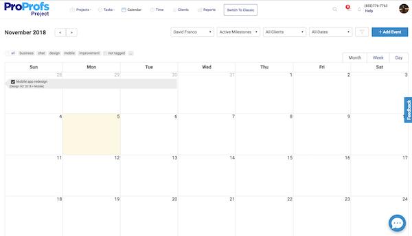 Project calendars