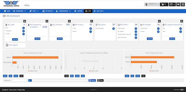 eRep user dashboard