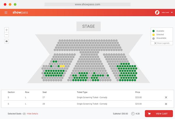 Showpass seating