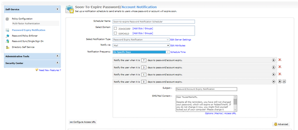 Password expiration notifier