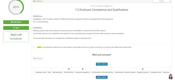 Employee competence