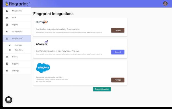 Integration dashboard