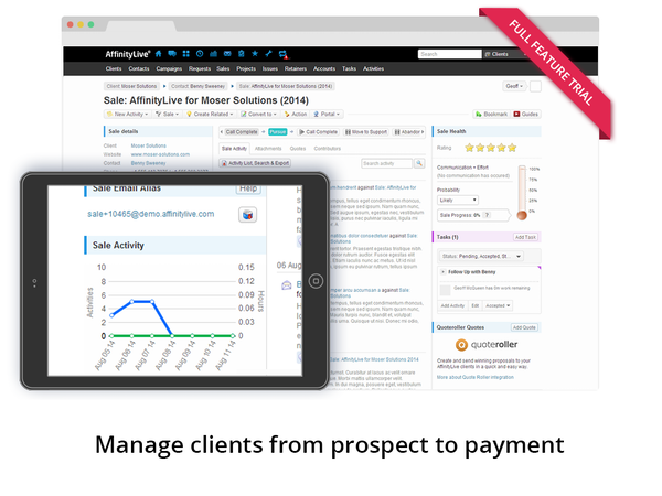 AffinityLive - Manage clients