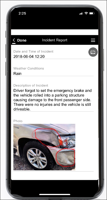 Incident report app example