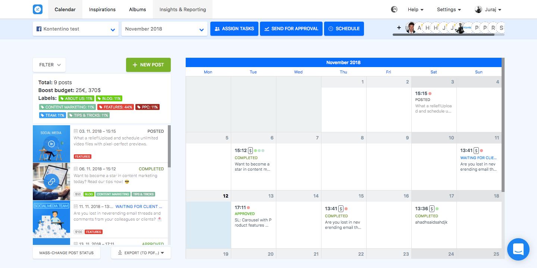 Kontentino - Calendar