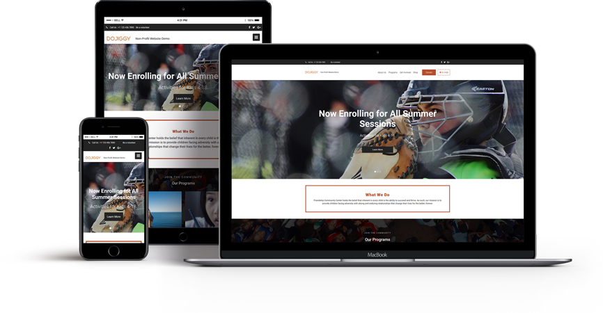 Mobile-responsive template