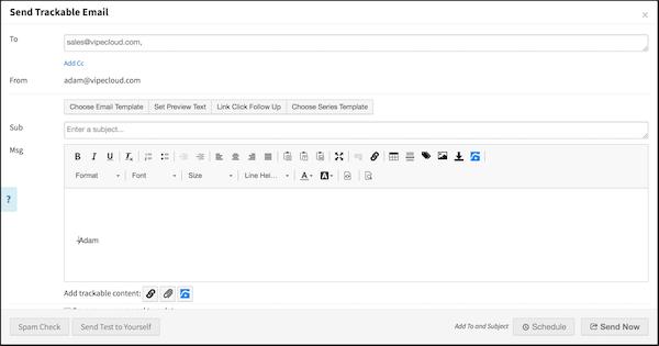 Send trackable emails