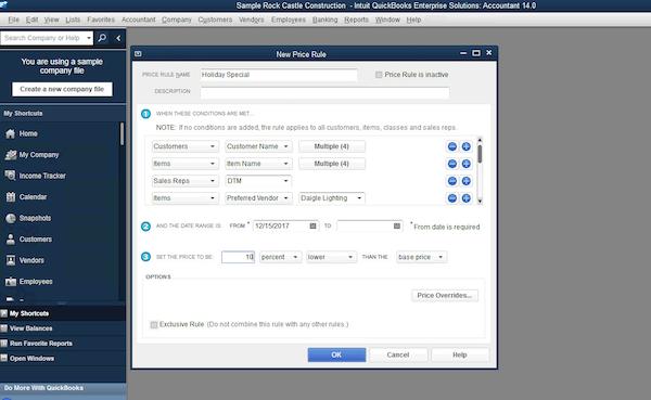 QuickBooks Enterprise - Advanced pricing