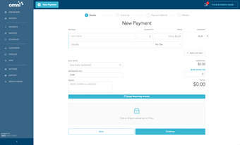 Omni invoices newpayment