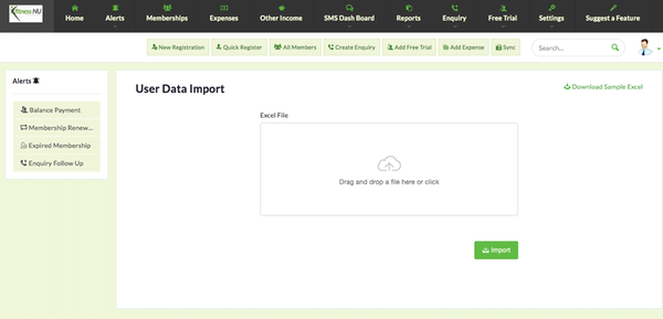 User data import