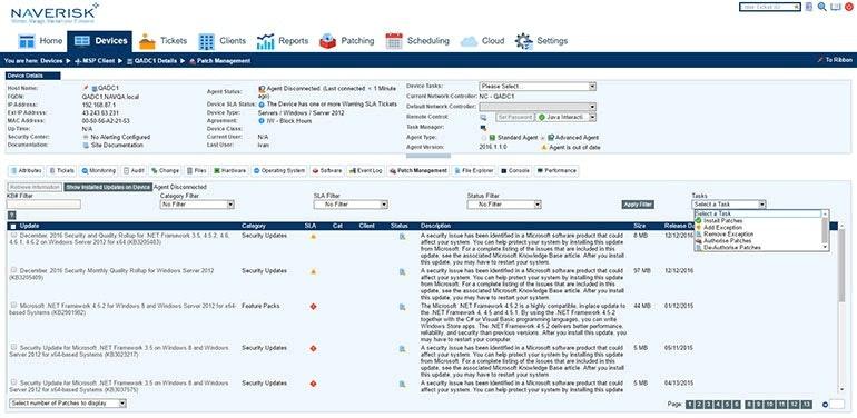 Desktop and server management