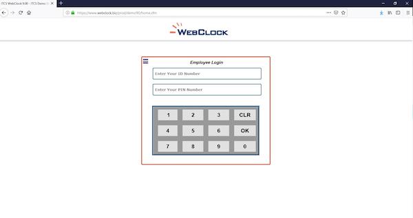 ITCS-WebClock Login