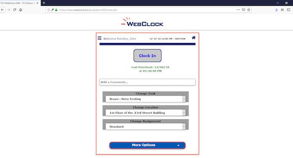 ITCS-WebClock E-punch