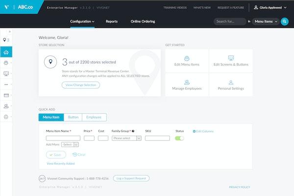 Infor POS configure interface