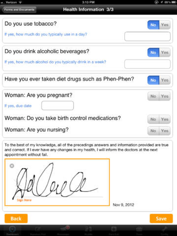 Patient health information