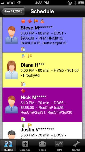 Patient schedule (mobile)
