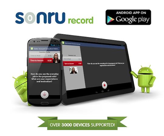 Sonru record app