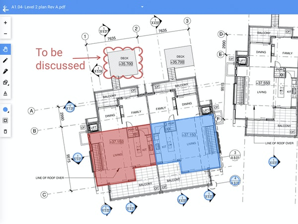 Collaborative plan markup