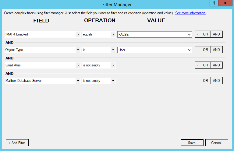 Filter Manager