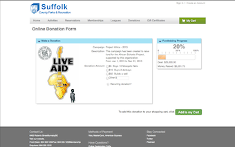 Fundraising and online donation form