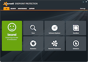 avast! Endpoint Protection - Dashboard interface