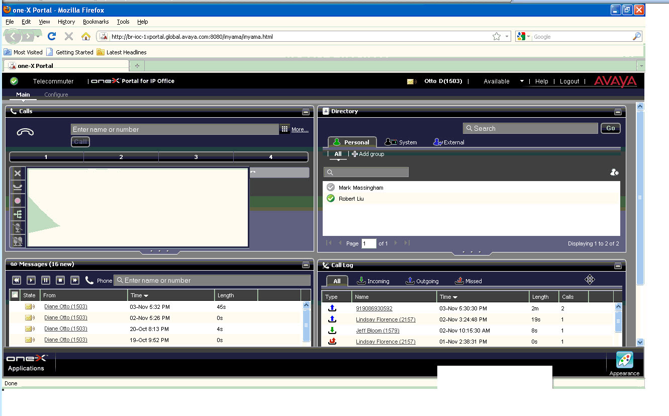 Web portal for remote communications