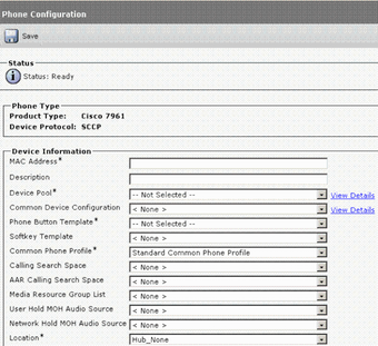 IP phone configuration