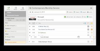 Service schedule dashboard