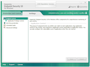 Kaspersky Endpoint Security - Settings tab