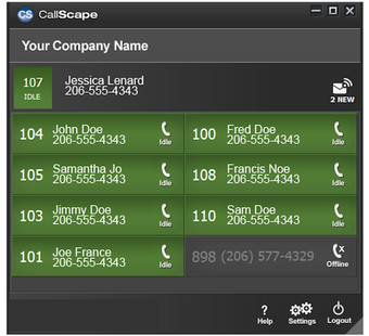 Click-to-call interface in Outlook