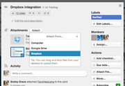 Trello - Trello file-sharing with Dropbox