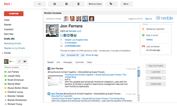 Gmail widget