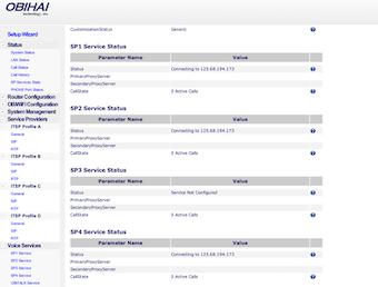 Service provider settings