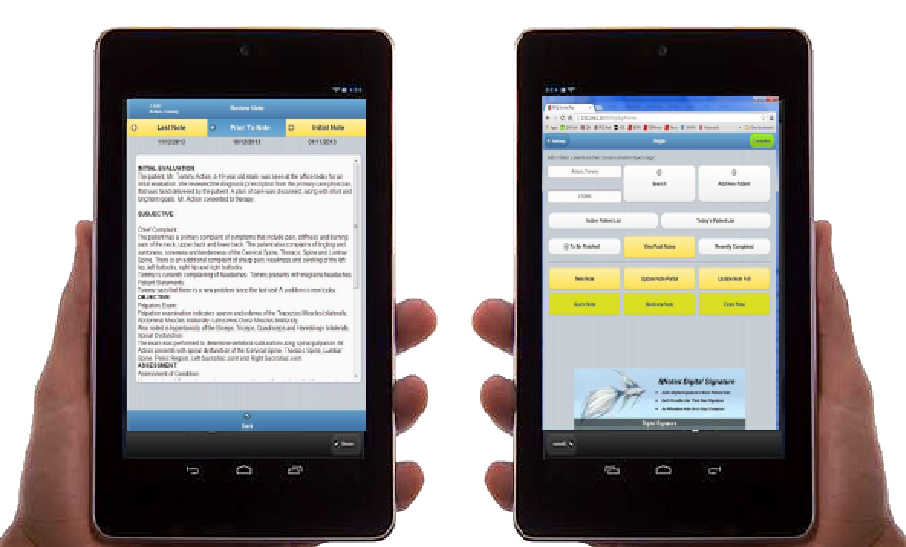 iPad interface