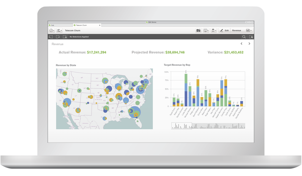 Qlik Sense revenue analysis