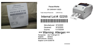 Inventory bar code label printing