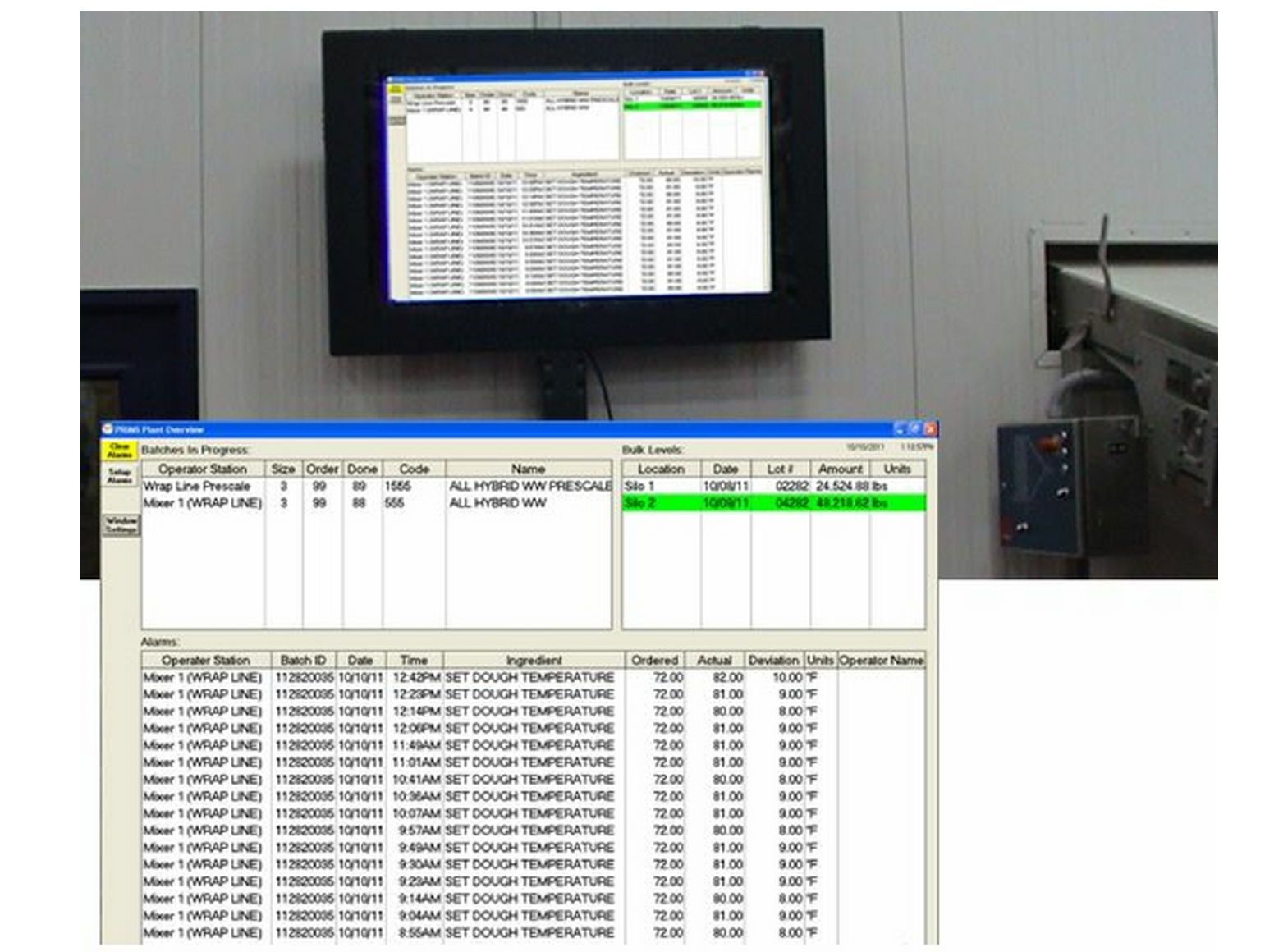 Large screen production monitor