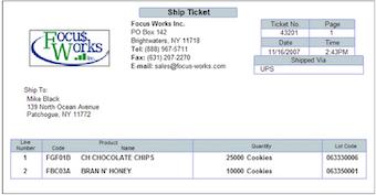 Ship ticket