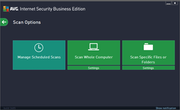 AVG Internet Security Business Edition - Scan options