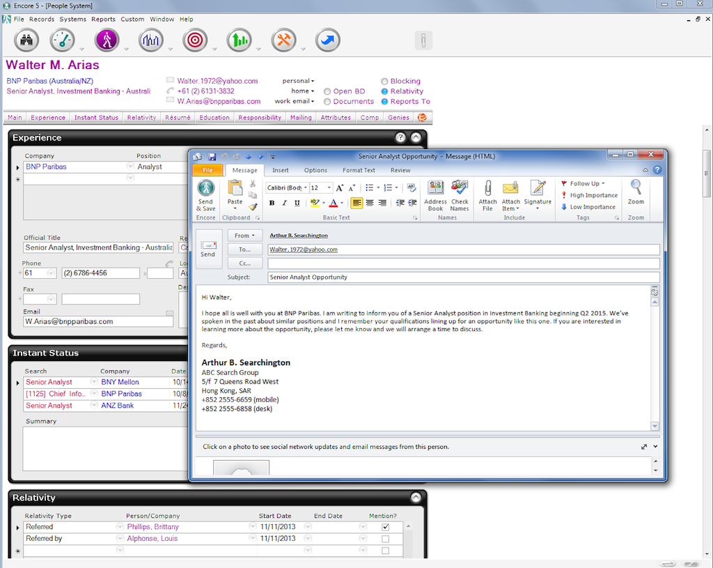 Outlook add-on