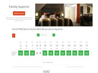 Web reservation system