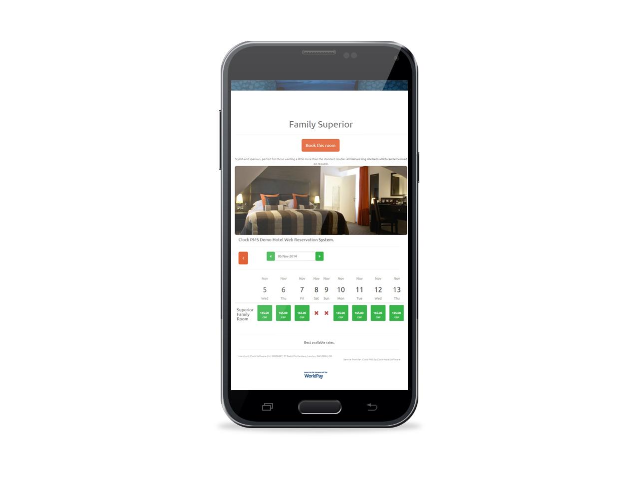 Mobile web reservation system