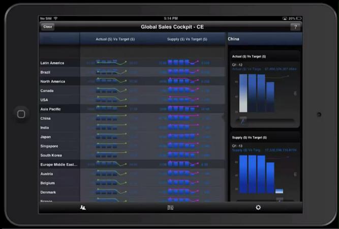iPad global sales cockpit